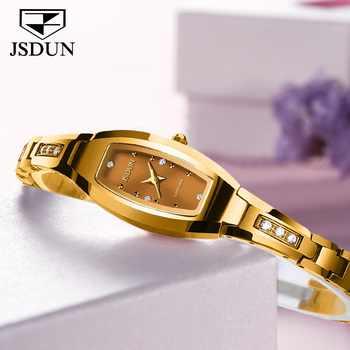 JSDUN Top Luxury Brand Fashion Diamond Gold Tungsten Steel Quartz Ladies Watch 30 M Waterproof  Watch Women Relogio Feminino2018 - DISCOUNT ITEM  50% OFF All Category