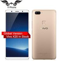 Origina VIVO X20 4 Gam LTE điện thoại Di Động Snapdragon 660 4 GB RAM 64 GB ROM Đầy Đủ Scree 6.01