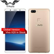 Origina VIVO X20 4 г LTE мобильный телефон Snapdragon 660 4 ГБ Оперативная память 64 ГБ Встроенная память полный осыпи 6.01″ 2160*1080 P двойной сзади Камера смартфон