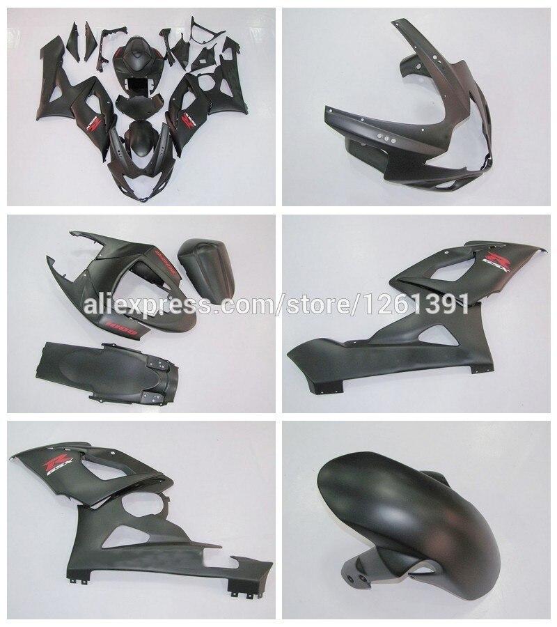 Литья под давлением Новые обтекателя Для SUZUKI GSXR1000 K5 05 06 матовый черный GSXR 1000 GSX-R1000 GSX R1000 K5 2005 2006 холодный кузов