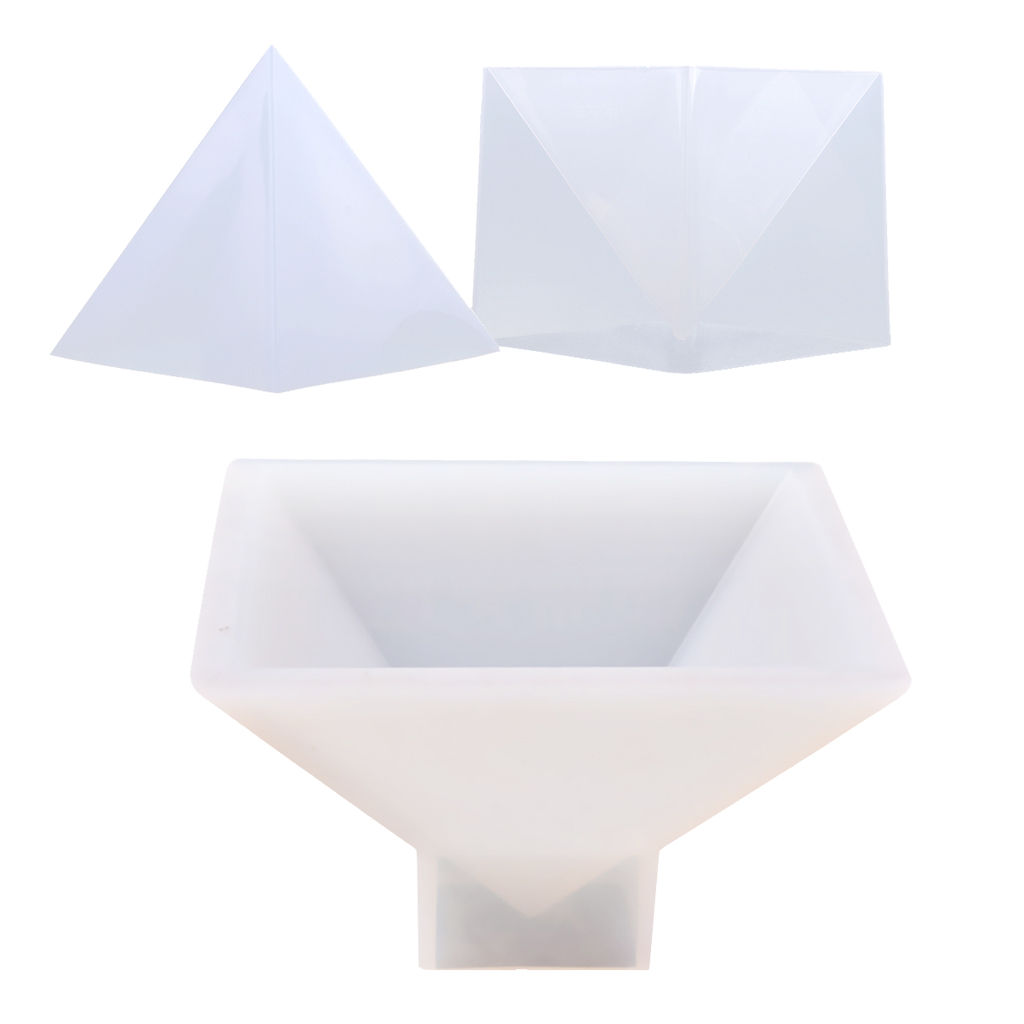 2pcs Pyramid Shape Silicone Mold Resin Jewelry Making Ornaments Craft Mould 95mm 150mm цена 2017