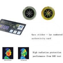 6pcs Radiation Protection Phone Sticker Round Quantum Shield for Mobiles NC99 цена в Москве и Питере