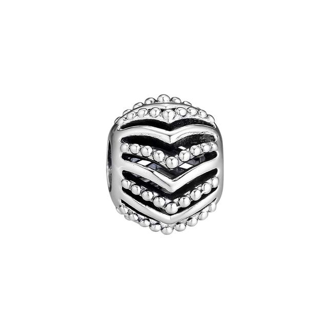 FANDOLA Silver 925 Jewelry Stylish Wish Bead Charms for Women DIY Fits Bracelet Necklace Beads for Jewelry Making