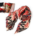 High quality Plaid Scarf Women Thicken Soft Winter Scarf Flower Print Vintage Style Fashion Scarves Woman Acrylic Shawl