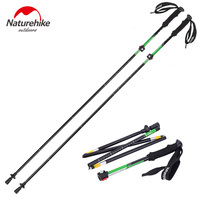 Brand High Quality Outdoor Ultra Light EVA Handle 5 Section Adjustable Sticks Canes Walking Sticks
