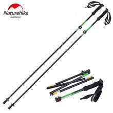 Naturehike high quality outdoor Ultra-light EVA Handle 5-Section Adjustable sticks Canes Walking Sticks Trekking Pole Alpenstock