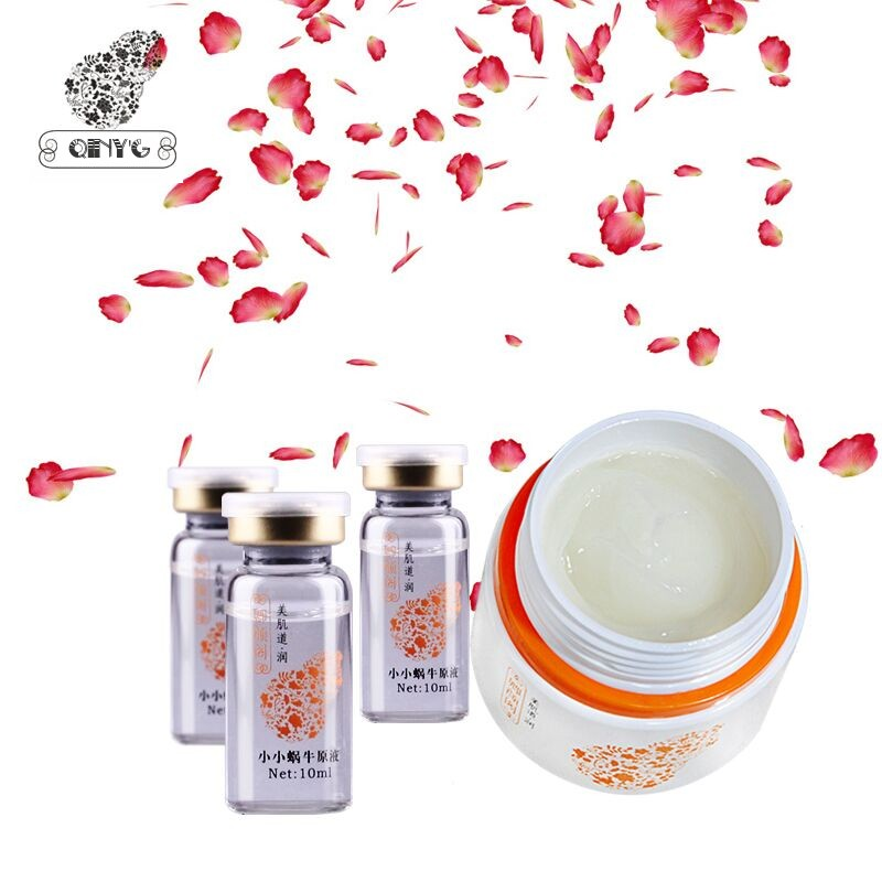 4pcs/Set Improve elasticity Shrink pores Increasing hydration luminous skin Combination facial cream and advanced snail serum