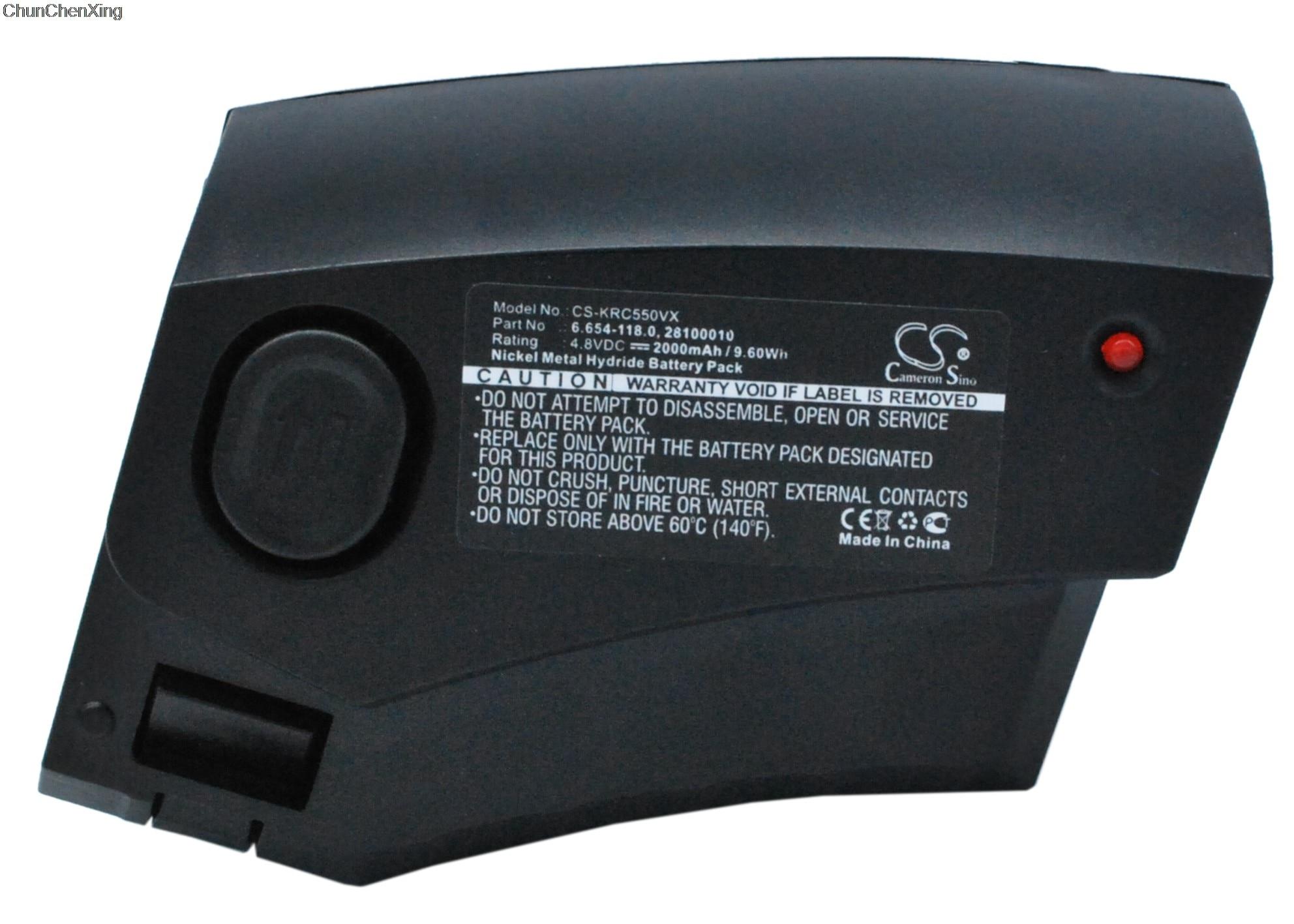 Cameron Sino 2000mAh Battery 28100010, 6.654-118.0 For Karcher 1.258-505.0, 12585050, 1258-5050, KC55