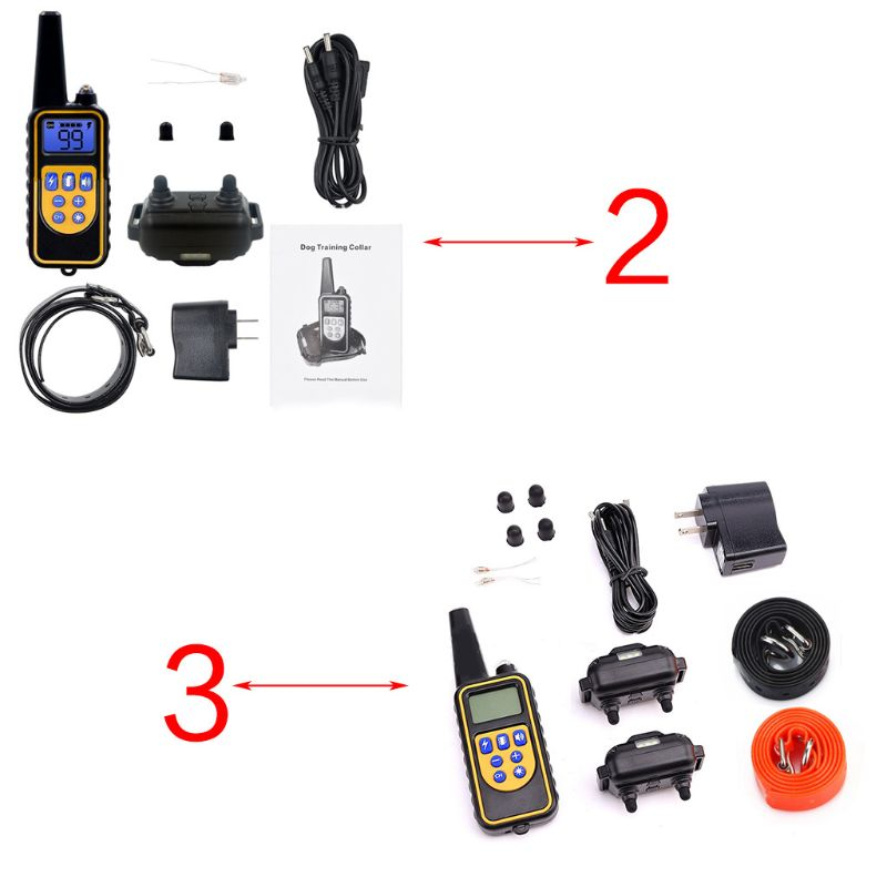 Waterproof Electric Dog Shock Collar With Remote Control For Large 880 Yard Pet Training