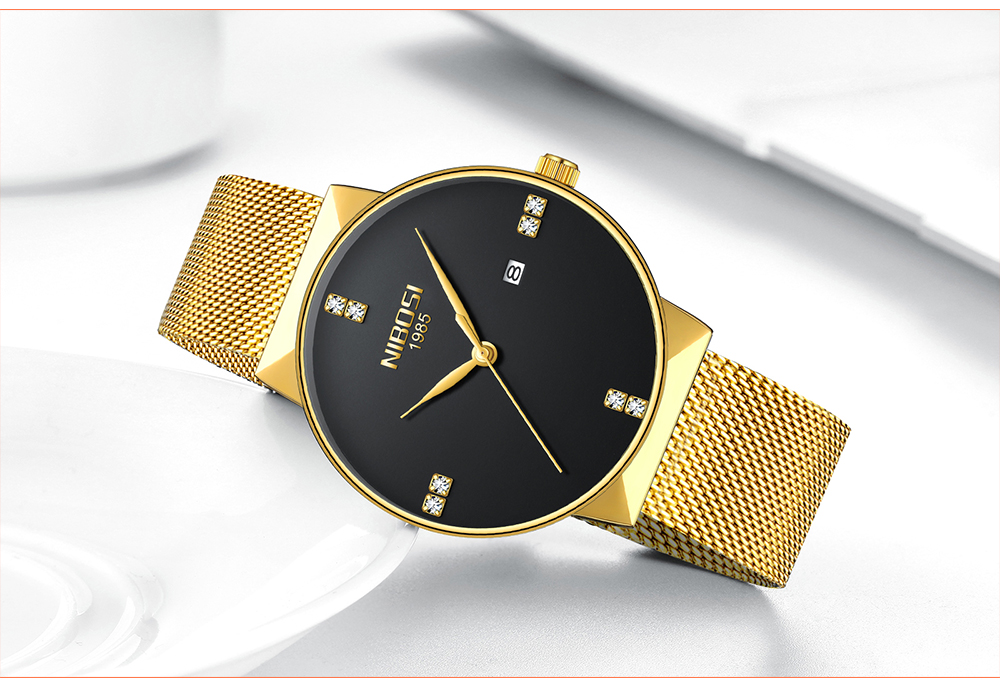 NIBOSI 2018 New Fashion Simple Watch Slim Mesh Band Mens Dress Watches Top Brand Luxury Male Relogio Masculino Quartz Wristwatch (15)