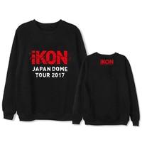 Mainlead KPOP IKON DOME TOUR Bobby Kim Dong Hyuk B.I Casual Pullover Women Tracksuit