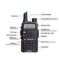 vhf uhf Retevis RT-5R Dual Band מכשיר הקשר VHF / UHF 136-174 / 400-520MHz 5W 128CH כף יד במקלט נייד Ham Radio Comunicador (3)