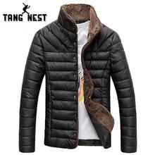 Все-матч однобортный популярные зимняя твердые теплый куртка повседневная пальто мужчин размер