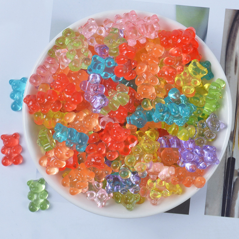 Happy Monkey In Stock 20pcs Mini Bear Slime DIY Accessories Toy Plastic Slime Supplies For Clear Crystal  Filler Gift Toy