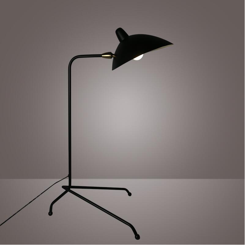 Adjustable Black AJ Floor Lamps Stand Lights E27 LED Bulb Metal Floor Lights for Living Room Bedroom Brief fashion home lighting стойки под акустику kef e301 floor stand black