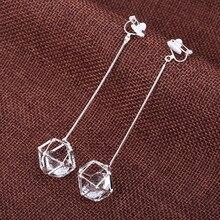 Long earring clips no pierced ear clip on earrings for female wedding party brincos
