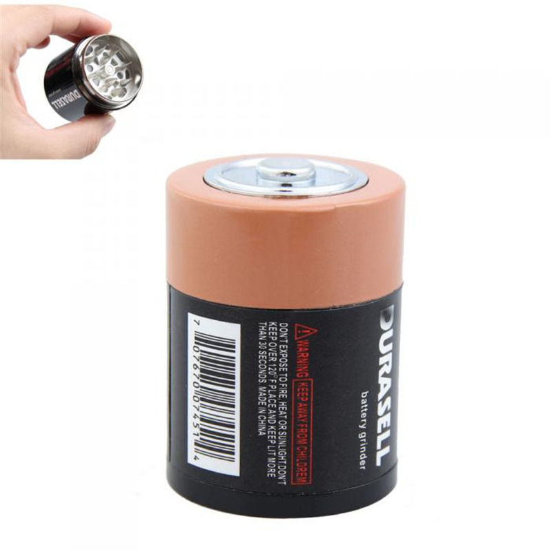 Battery Shape Grinder 3parts Herb Grinder Weed Tobacco Smoke Water Pipe Glass Pipe High Quality Crusher Accessories