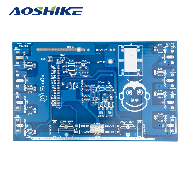 Aoshike Pure Sine Wave Inverter Power Frequency Board 1000W 2000W 3000W Post Sine Wave Amplifier Bare PCB Board lcd32b66 l frequency board amplifier board 40 l2726a nid2x