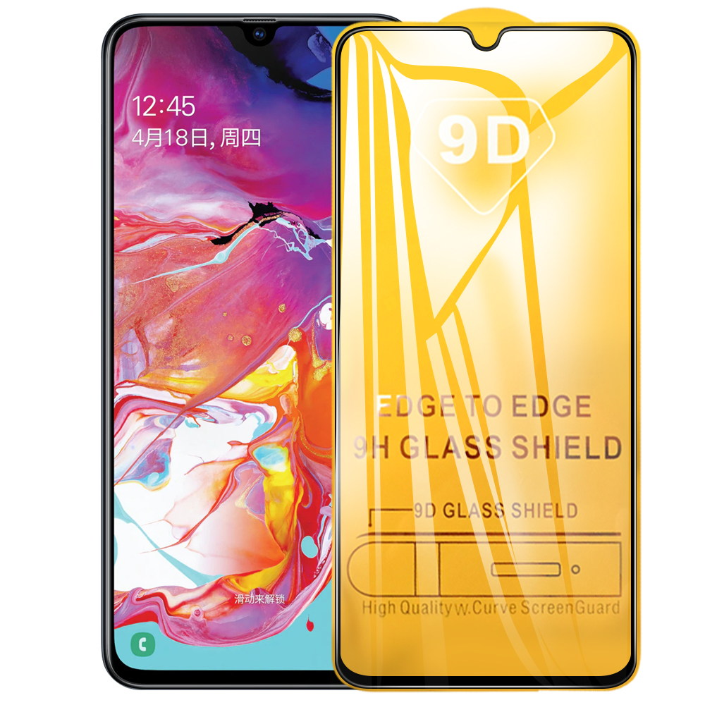 9D 9H Full Cover Tempered Glass On The For Samsung Galaxy A70 A30 A50 A40 M20 A60 A80 A90 M10 M30 2019 Screen Protective Glass