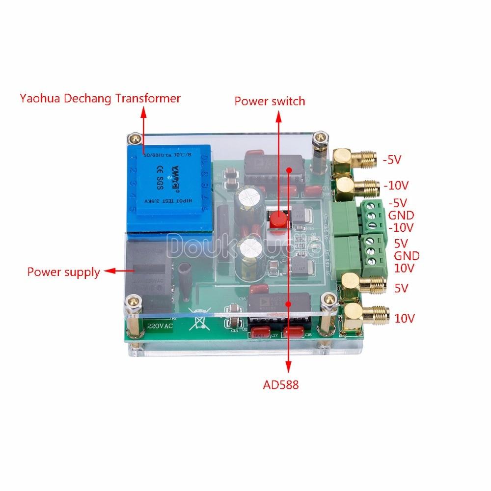 AD588 Reference Voltage Source 5V/10V DAC Meter Calibration High-Precision 220V corel wordperfect 9 0 quick source reference guide