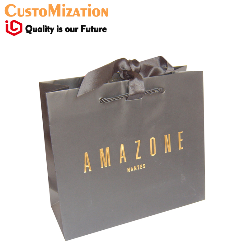 Factory OEM Design Soy Base Ink FSC Certified Paper Bags for Shopping