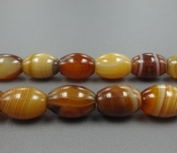 Inches Of Strand Natural Brown Agate Smooth Chunky Rice Bead Lace Agate Coin Loose Beads Jewelry