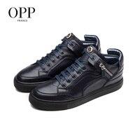 OPP/мужские ботинки; обувь из натуральной кожи на молнии; зимние ботинки; мужская кожаная обувь с натуральным лицевым покрытием; мужские боти