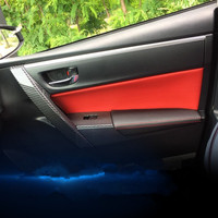8PCS Microfibre Leather Interior Doors Panel Armrest Cover For Toyota Corolla Levin 2014 15 16 2017 AAB138