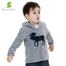 Svelte Brand Animal Embroidery Autumn Winter Coat Boys Kids Fur Coat Fleece Hooded Jacket Clothes Children Sweatshirts Jersey