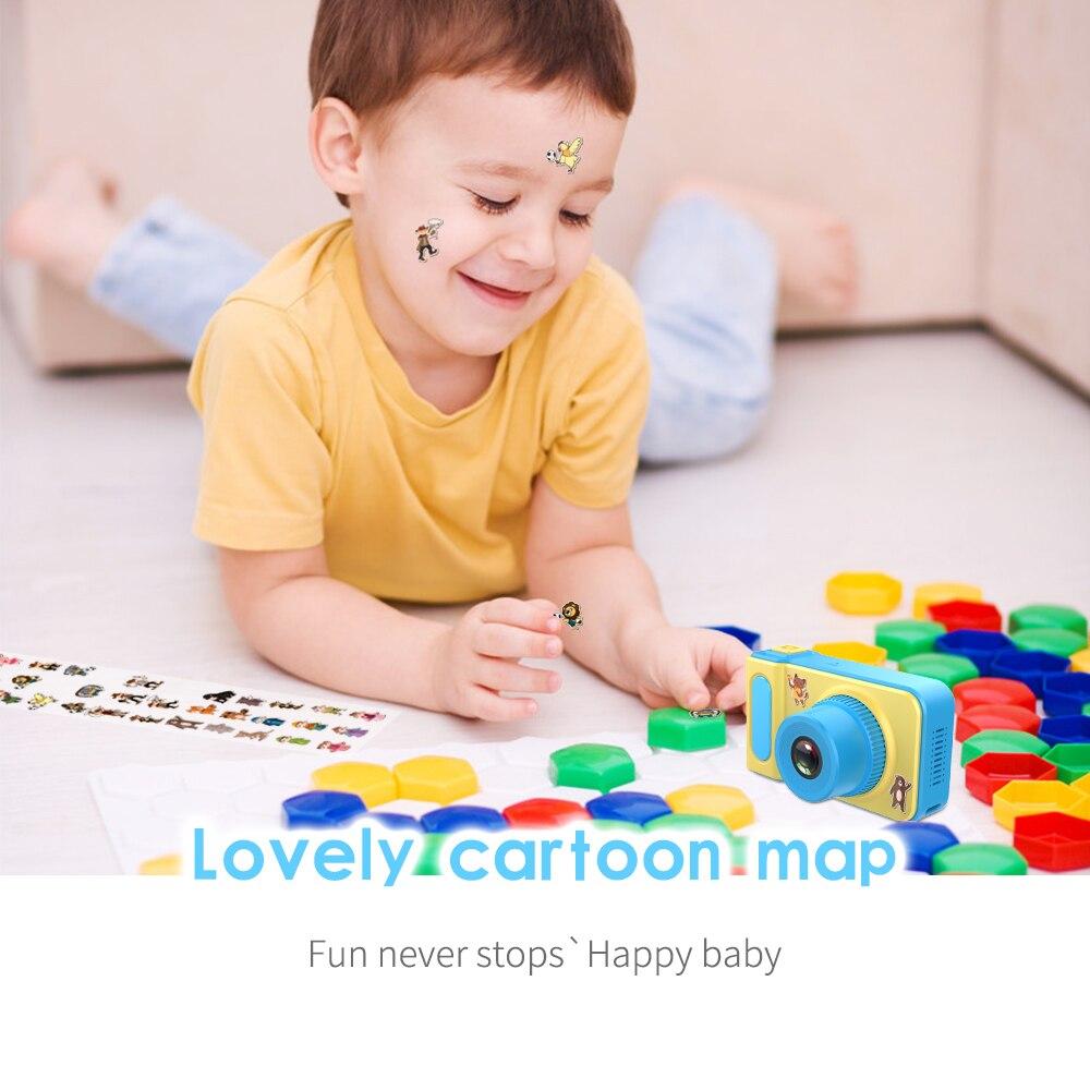 HTB1BWHFaErrK1RkSne1q6ArVVXaI Kebidu Mini Digital Camera 2 Inch Cartoon Cute Camera Toys Children Birthday Gift 1080P Toddler Toys camera