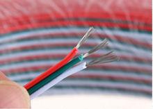 Cable de cobre estañado, 22AWG cable de 3 pines RGB, cables aislados con PVC, 22 awg de alambre, cable eléctrico, el cable del LED, DIY Conectar