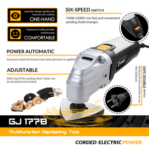 Image 2 - DEKO 110V/220V Elettrico A Velocità Variabile Multifunzione Oscillante Tool Kit Multi Strumento di Strumento di Potere Taglierina Elettrica Seghe accessori