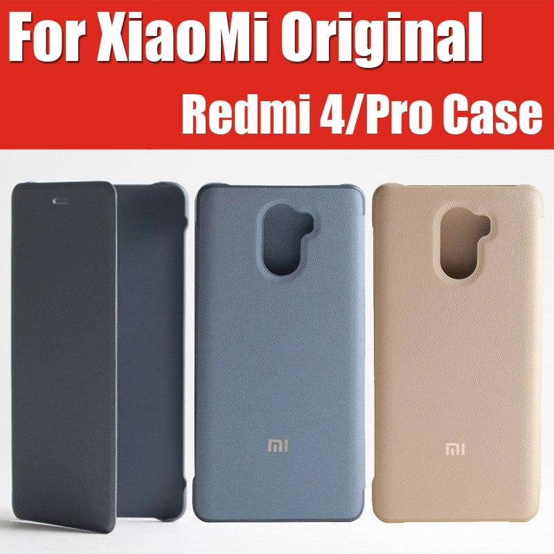 """imágenes para 5 """"2.5d snapdragon 430/625 redmi 4 pro cubierta del tirón del cuero 100% original mi marca con caja al por menor para xiaomi redmi 4 case"""