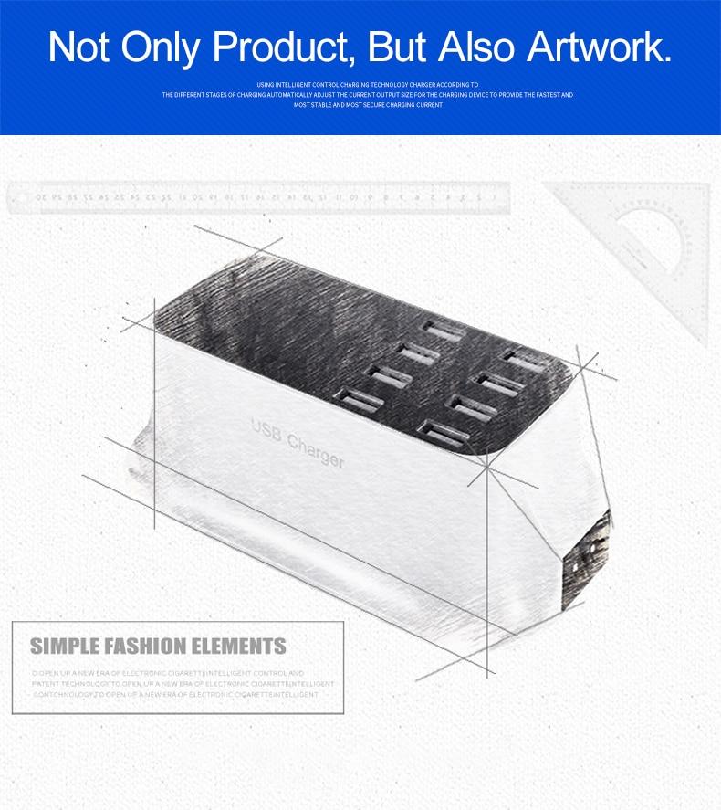 Universal 8 Ports Smart USB Charger Station Hub Led Display charger (17)