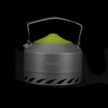 New High Quality ALOCS 0.9L Portable Ultra-light Outdoor Hiking Camping Survival Water Kettle Teapot Coffee Pot Oxide Aluminum 4