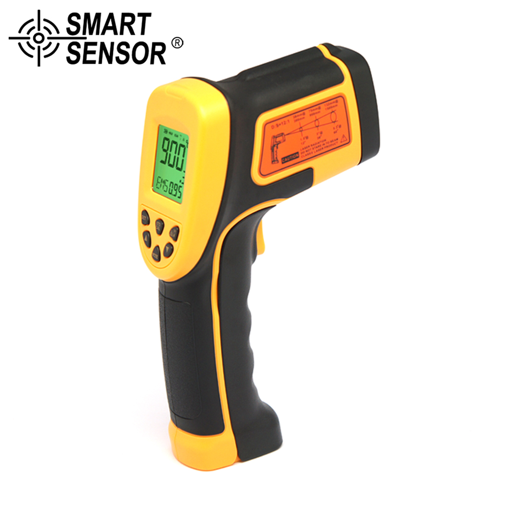 SMART SENSOR -50~900C Digital IR Thermometer noncontact instant read infrared thermometer Laser Electronic Temperature Gun meter factory price 900c servo motor for mutoh vj 1204 vj 1604 vj 1624 vj 1638 vj 1304 rj 900c printer