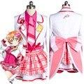 Lovelive Любовь в Прямом Эфире! SIF Рин Hoshizora Косплей Костюм Наряд Равномерное После Школы Dress Custom Made