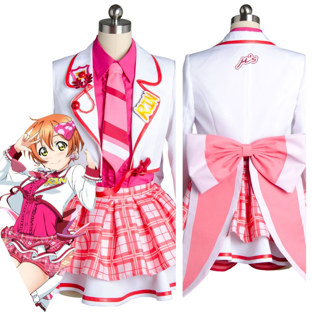 Lovelive Love Live!SIF Rin Hoshizora Cosplay Costume Outfit Uniform After School Dress Custom Made
