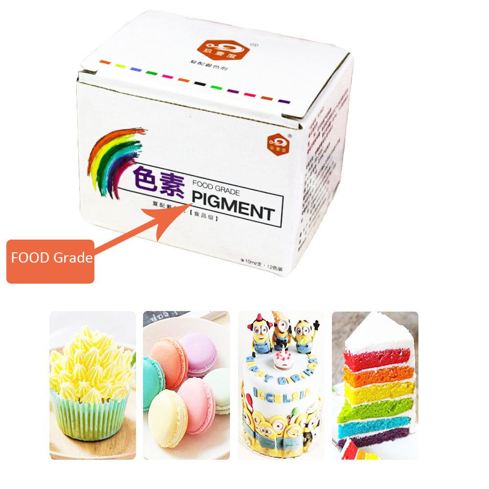 Image 2 - 12PC Edible Food Coloring Pigment Gel Set for Cake / Macaron /Icing /Slime Cake Fondant Accessoies Decorating Baking Pastry Tool-in Baking & Pastry Tools from Home & Garden