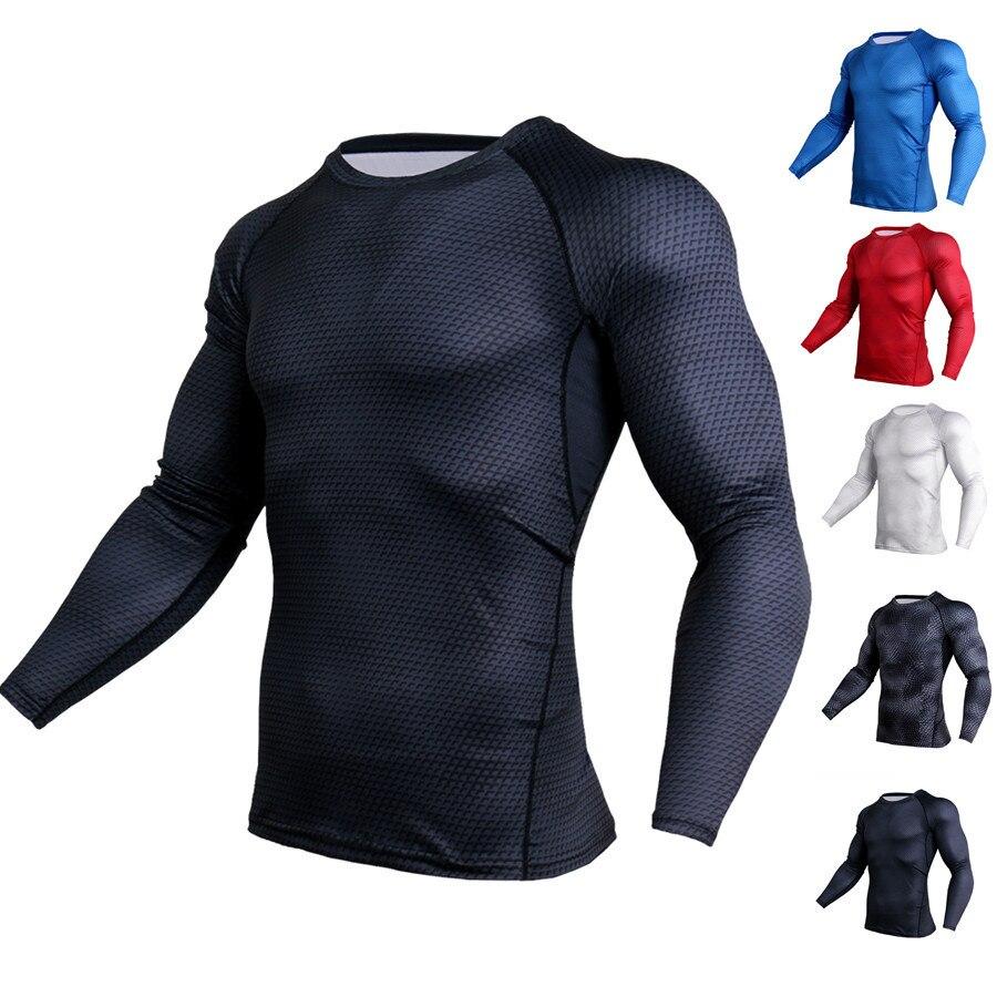 Compression male Shirt Men Long Sleeve 3D T Shirt Tops mens tee Shirts