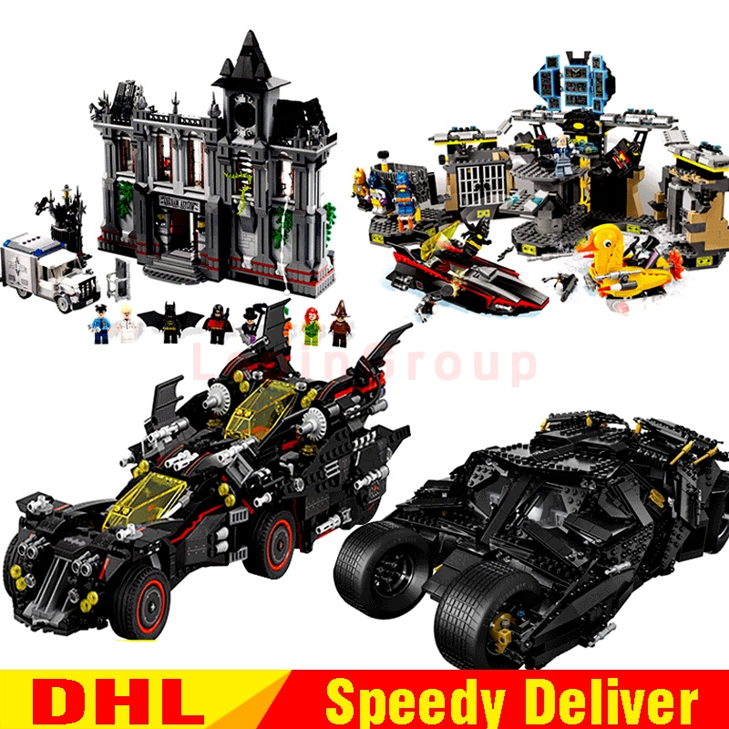 lepin 07077 Lepin 07044 Lepin 07052 Lepin 07060 Batcave Break-in Genuine Block marvel legoing Toys Batman 70917 70909 76023 1037 lepin 07052 1047pcs batcave break in set the genuine model movie building blocks bricks educational toys for children 70909