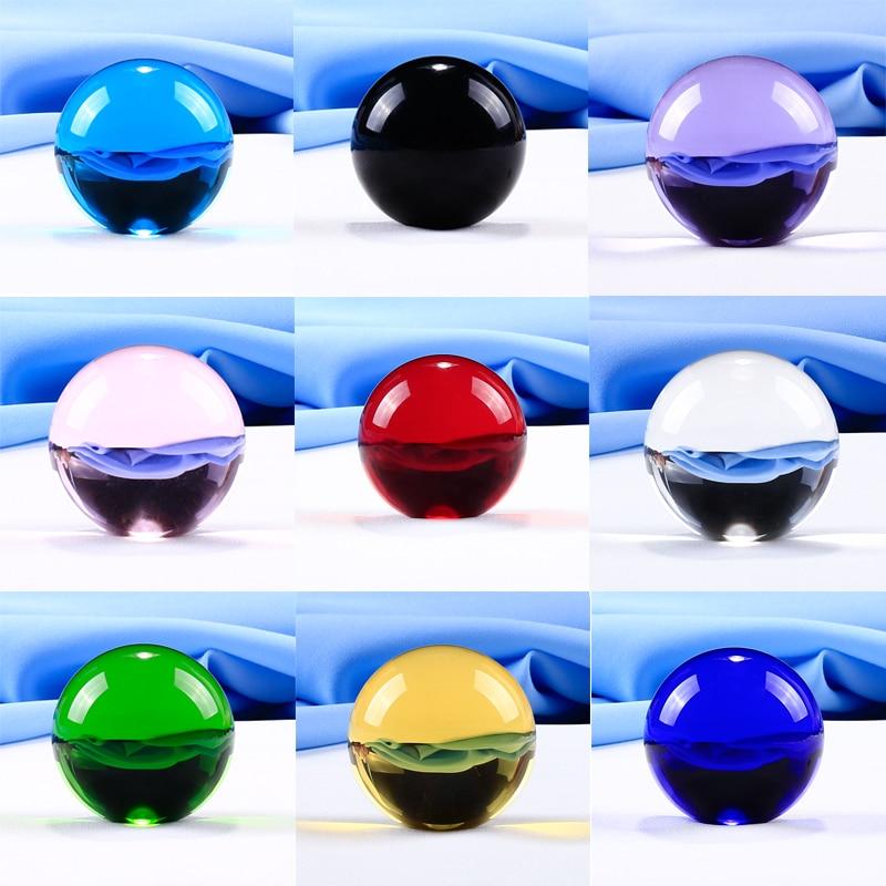 1 kus 50 mm křišťálová koule různé barvy vybrané skleněné koule koule DIY ozdoby feng shui řemesla na dárky domácí dekorace