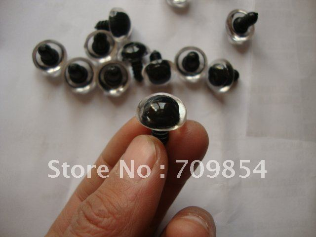 free shipping 500pcs lot 16mm Animal ROUND clear eyes white hard washer Toy findings 91