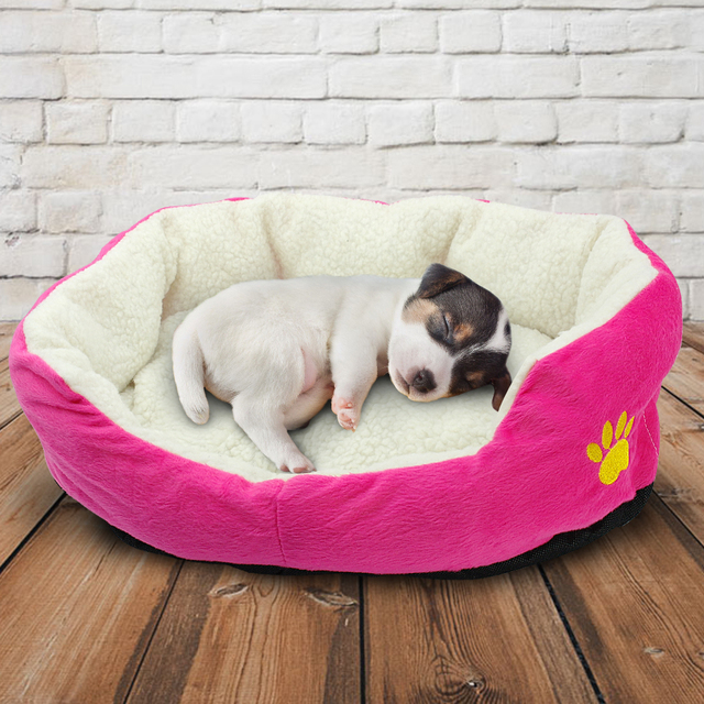 Dog Bed Cotton Soft Pet Mat House Mattress Winter Warm Sofa Nest Home Blanket Couverture