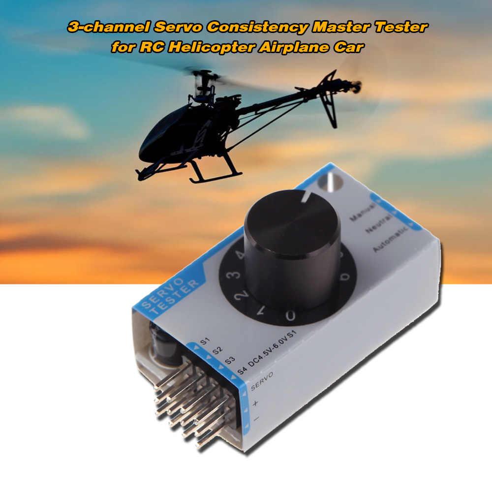 GoolRC Mini 3-channel Tester Servo Padrone di Consistenza Tester per RC Drone Elicottero Aereo Auto Sterzo Tester RC parte