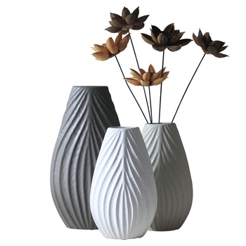 Modern abstract ceramic dried flower vase home decorations living room Floor-mounted fashion room decor crafts flowers vases