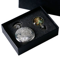 Vintage Silver Doctor Who Pocket Watch Chian Pendant Women Men S Gifts Box Set Pendant Necklace