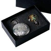 Vintage Silver Doctor Who Pocket Watch Chian Pendant Women Men S Gifts Box Set Pendant Necklace