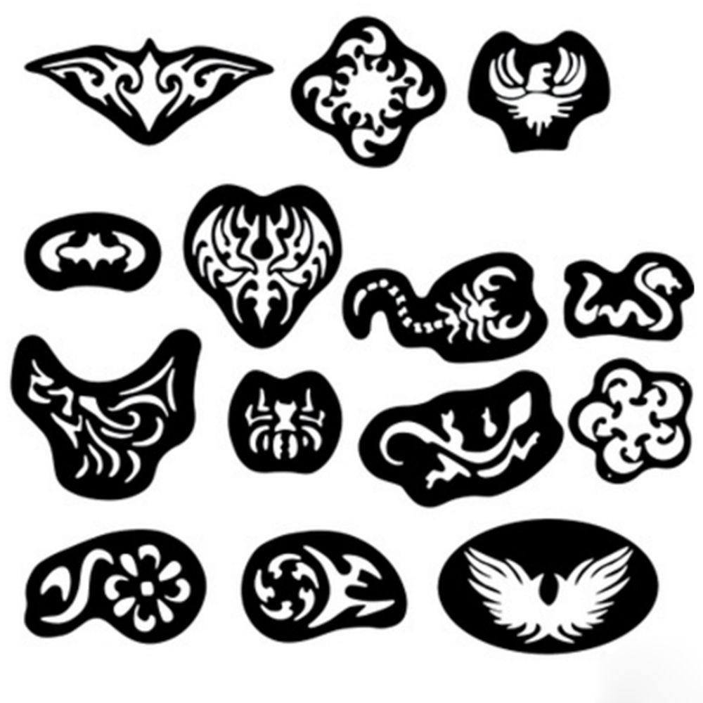 c2600f108 25 Pcs Hair Tattoo Template Hairs Carved Men Tattoos Patterns Salon Barber  Tool