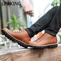 LIN REI Novos Homens Da Moda Inverno Quente Botas Lace-up Sólido High Top Militar botas Dedo Do Pé Redondo Sola Grossa Tornozelo Confortável botas